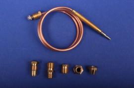 Universal Thermoelement 600 mm mit 5 Adaptern Gasgrill Gasherd Bräter