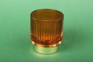 Teelichthalter dark orange (klein)