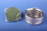 Favorit Halter für Insekten-Spirale aus Metall Mückenspirale Moskitospirale Anti-Mückenspirale antik (silberfarben)